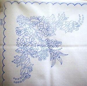 Hungarian paprika rose cloth