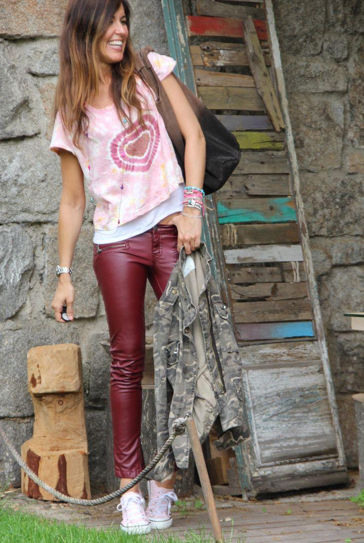 oxblood pants & pink - mytenida