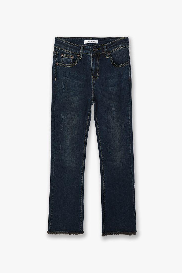Crop Bell Bottom Stretch Jeans