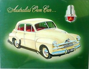 Holden FJ 1953 Australia's Own Car Auto Memorabila Metal Tin Sign