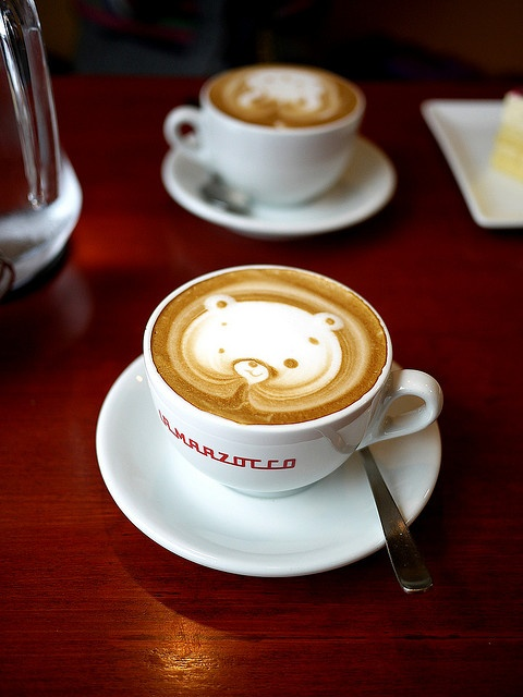 Cafe Rosso at Yasugi, Japan (of course!). Pretty impossible to drink though, too much cuteness in here...