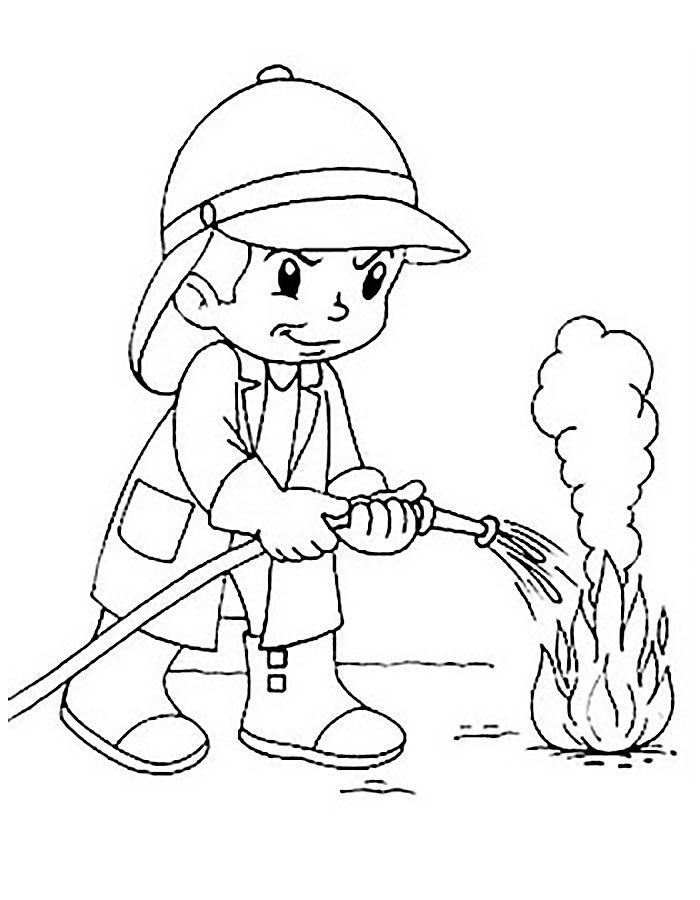 Пожарник картинка для детей шаблоны