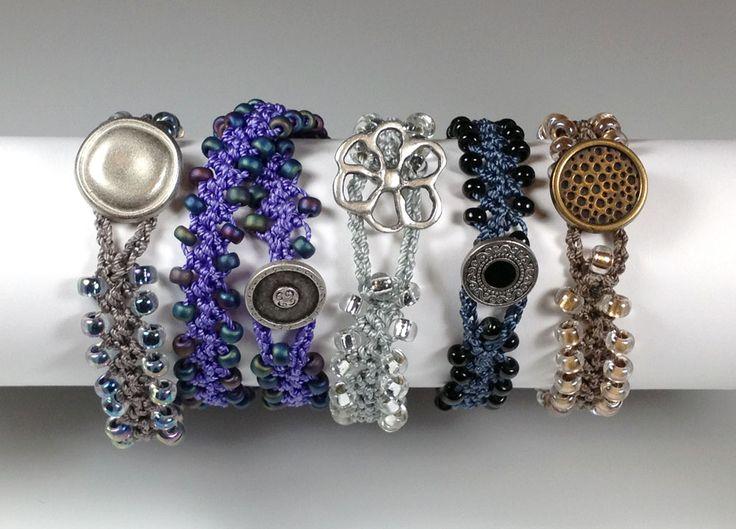 Free Crochet Patterns Using Beads | Turkish Flat Bead Crochet Bracelet Tutorial