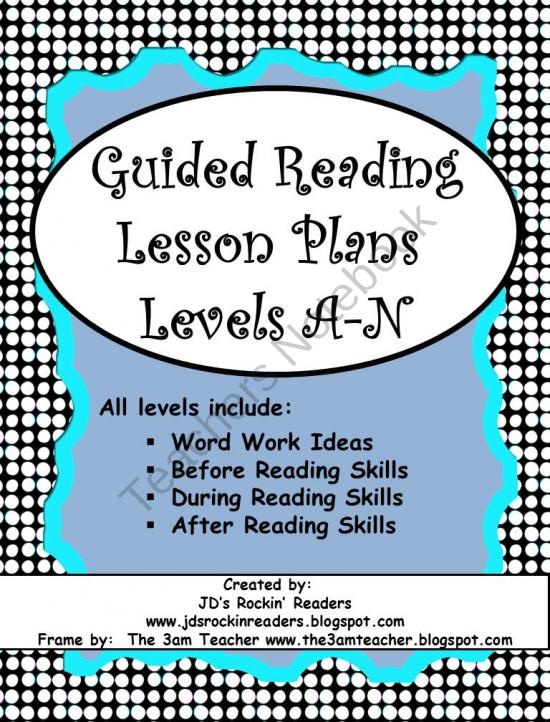 Guided Reading Lesson Plans (Levels A-N) from JDs Rockin Readers on TeachersNotebook.com (30 pages)