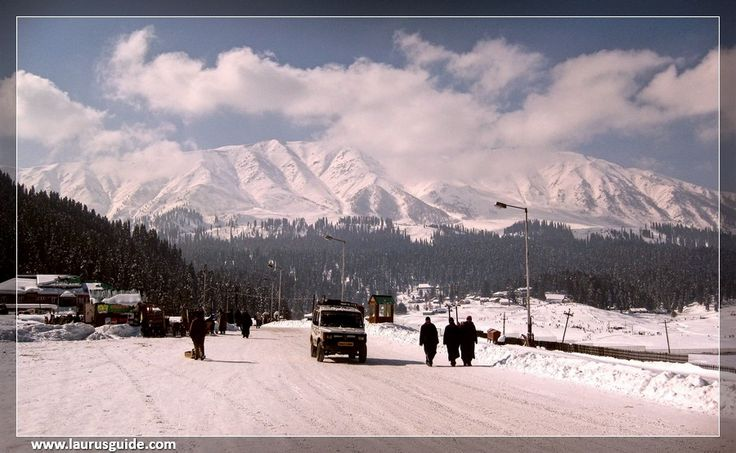 Gulmarg is located in the Baramulla District of Jammu and Kashmir. Situated at at an altitude of 2730 m above sea level, it is surrounded by forested hills and meadows, snow-capped peaks, deep ravines and  valleys. The scenic beauty of this place has made it a popular filming location for many Bollywood movies.  The most visited spot of the region is Khilanmarg, from where the Kashmir Valley and the Himalayan Range is visible.