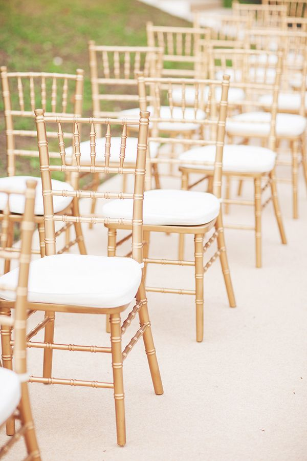 Gold tiffany chairs. | Tanya and Raphael | ExtraOrdinary ...