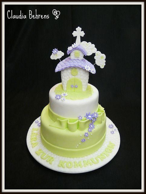comunion cake lara - claudia behrens by Claudia Behrens ~ Cakes, via Flickr 1ª comunhão