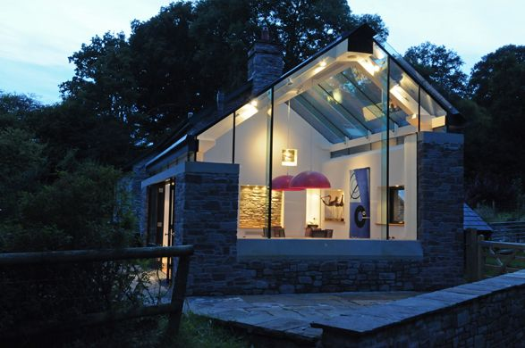 Fab take on modern conservatory on character building by for Modern house ark