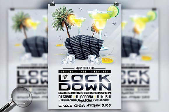 End Of Lockdown Party Flyer Party Flyer Lockdown Party Flyer