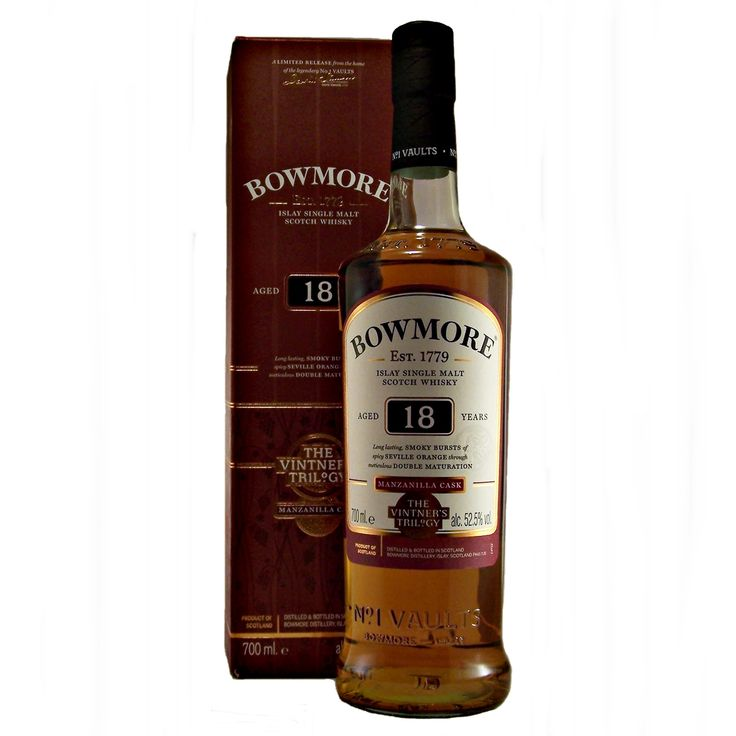 Bowmore 18 year old Manzanilla Cask Vintners Trilogy single malt whisky available to buy online at specialist whisky shop whiskys.co.uk Stamford Bridge York