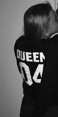 2016 New Spring Autumn 100% Cotton Fashion Letters Printed KING01 QUEEN 01 Lovers Long Sleeve T-shirt Top Loose Couple T-shirt