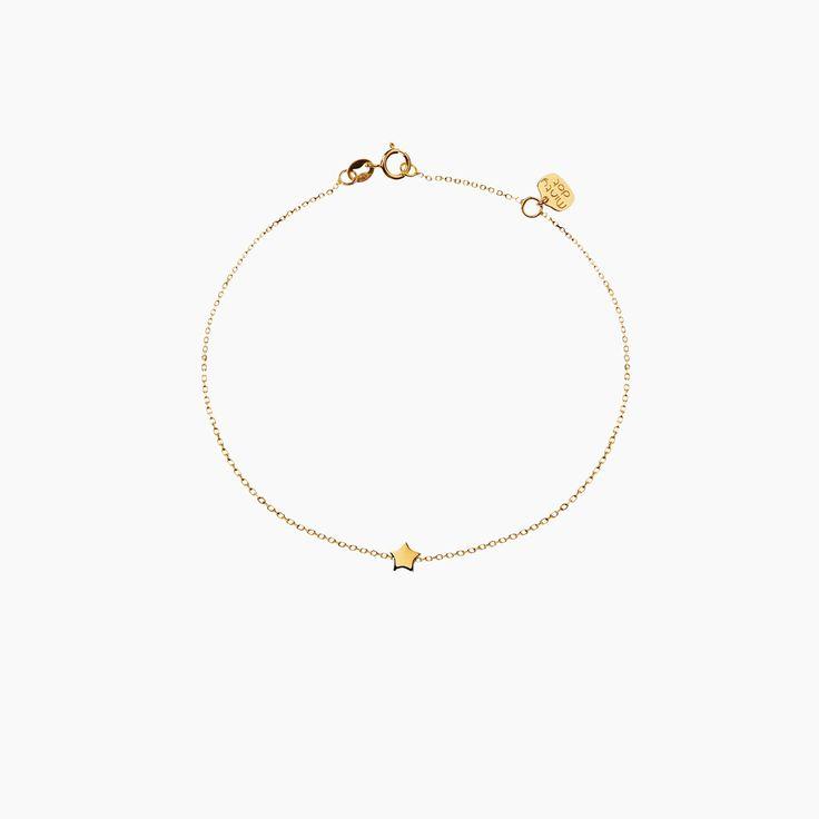 GWIAZDKA - bransoletka złota