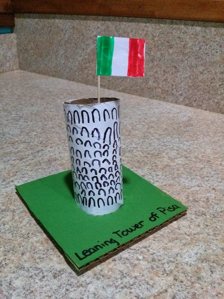 Leaning Tower of Pisa craft, Italy craft