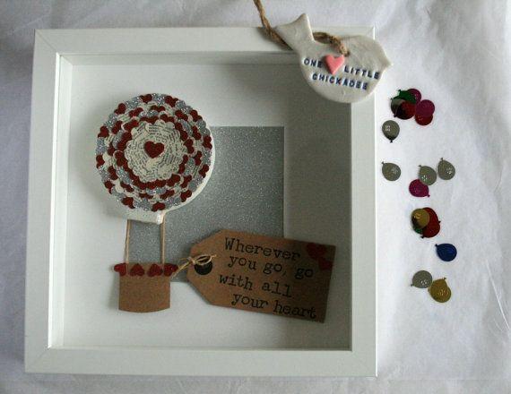 Framed Hot Air Balloon, Heart Air Balloon £27