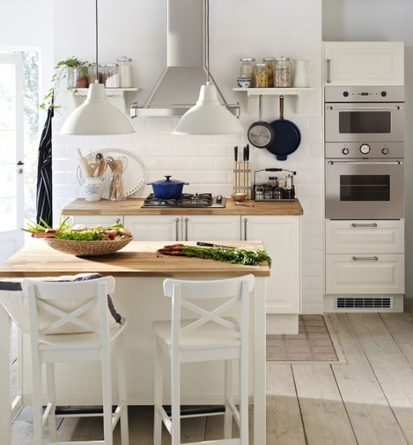 Ingolf bar stools at the stenstorp kitchen island