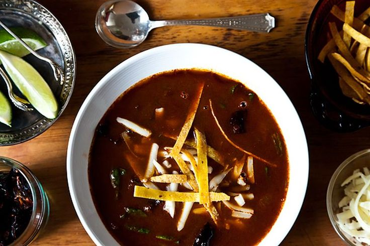 Rick Bayless' Tortilla Soup with Shredded Chard recipe on Food52