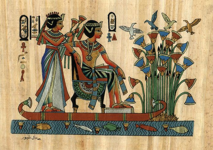 29 best images about egyptian papyrus on pinterest for Egyptian mural paintings