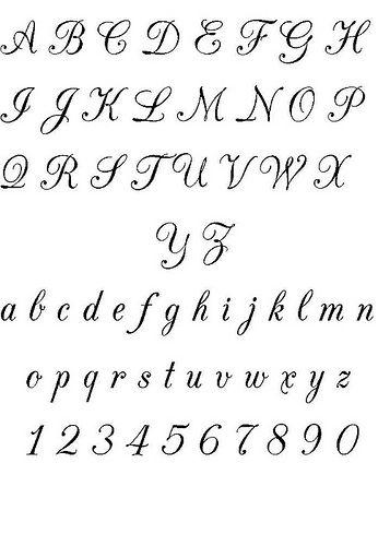 Famoso Oltre 25 fantastiche idee su Alfabeto corsivo su Pinterest  CZ79
