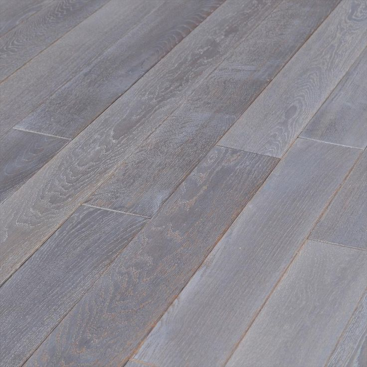 Hardwood European Brushed Oak Collection Gray Sky And