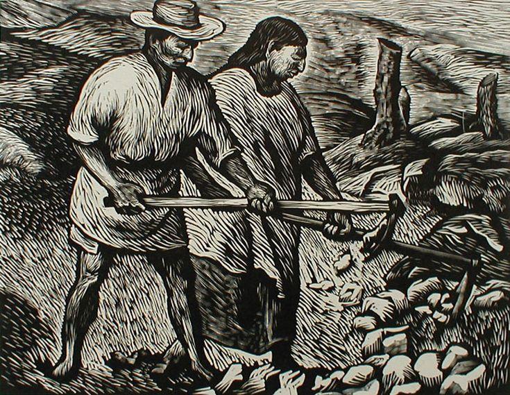 Trabajadores del campo de Adolfo Mexiac