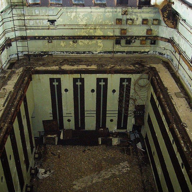 Looking down inside Lab 4, A.W.R.E, Orfordness. #orfordness
