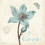 Touch of Blue IV (Love) Kunstdrucke von Katie Pertiet