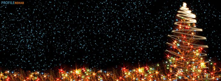 Christmas Tree Lights Facebook Cover. Via Profile Rehab