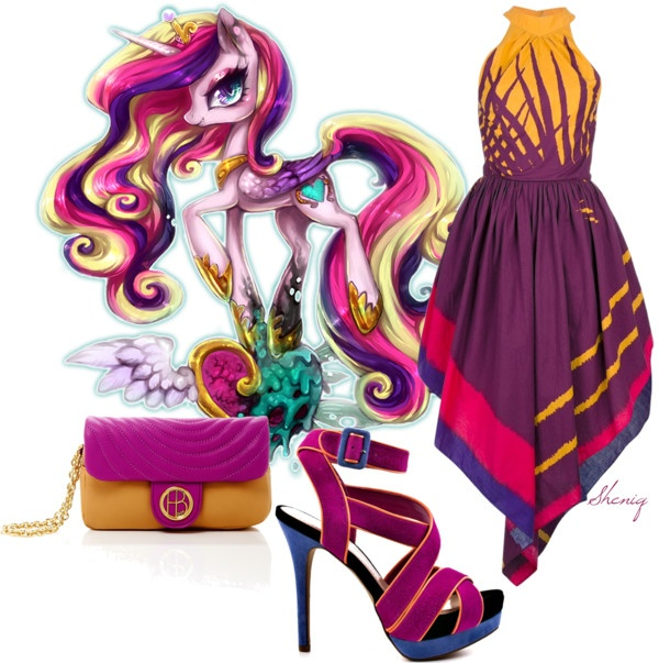 """Princess Cadance by Sheniq"" by sheniq on Polyvore. Though the dress is  kinda cute, I find it funny that grown women wear my little pony inspired clothes."