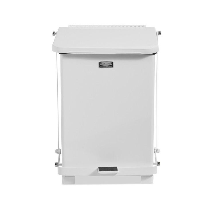 7 Gal. Square White Step Can
