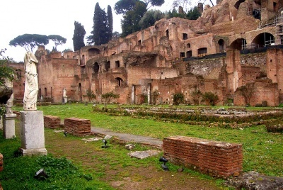 House of the Vestals... consisted of small shrines, apartments, and the gardens