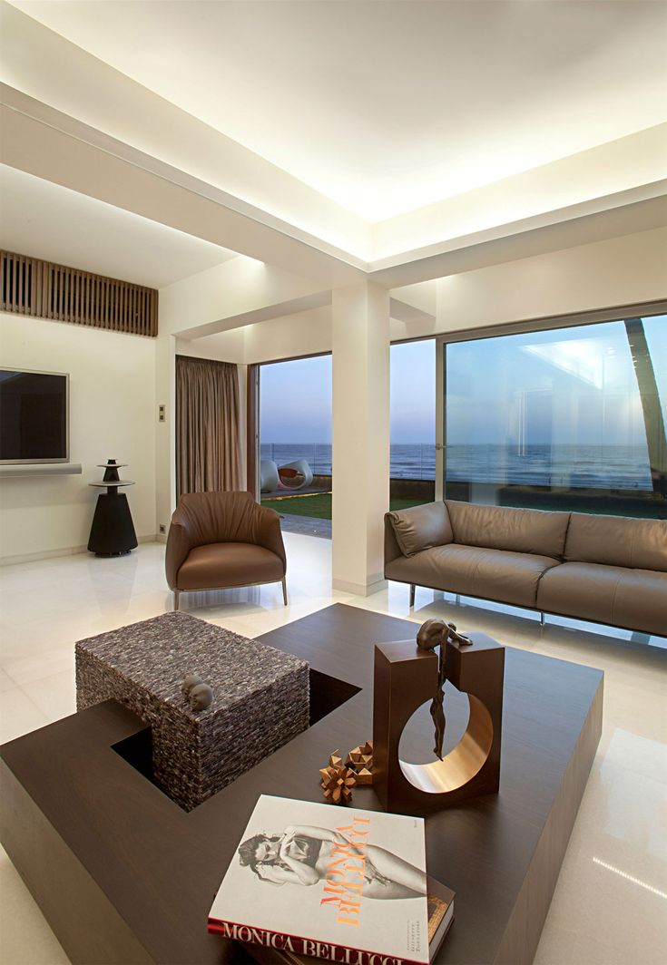 Coffee Table Apartment By The Beach In Mumbai India ZZ Architects