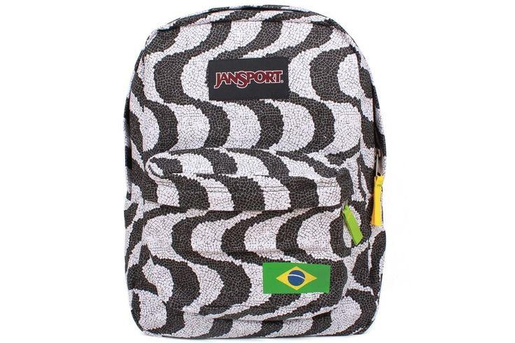 Jansport - Regional Collection Brazil. Color Black/White with Brazil Flag.
