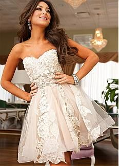 Chic Tulle Sweetheart Neckline Short A-line Homecoming Dress