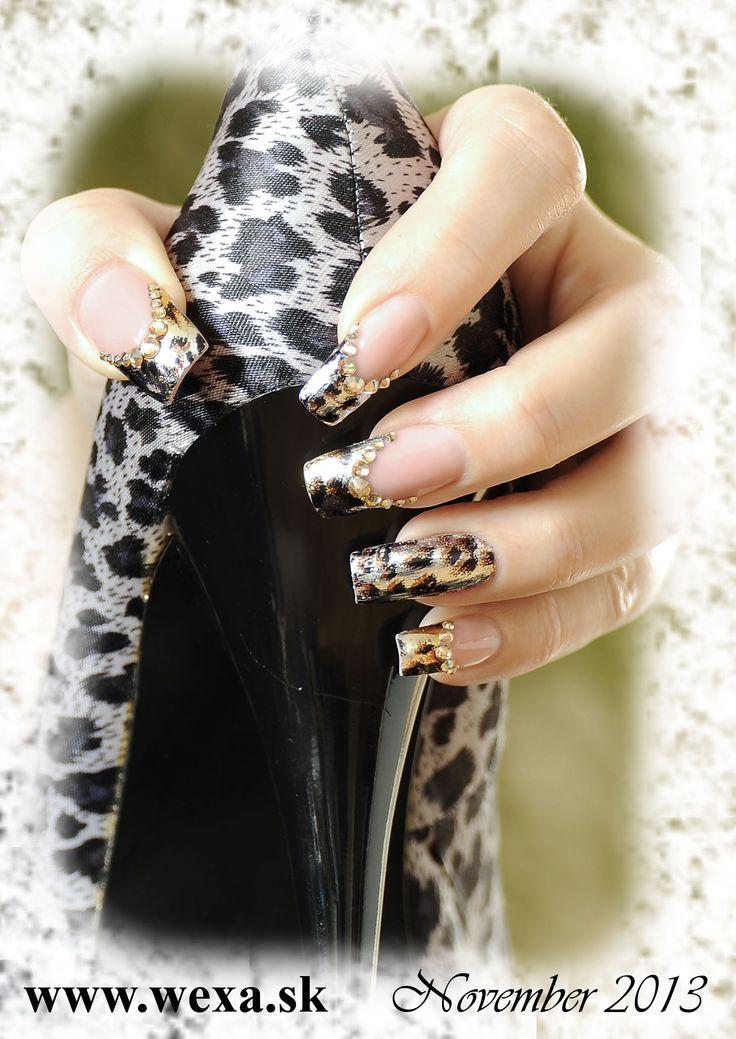 Tiger transfer Nails