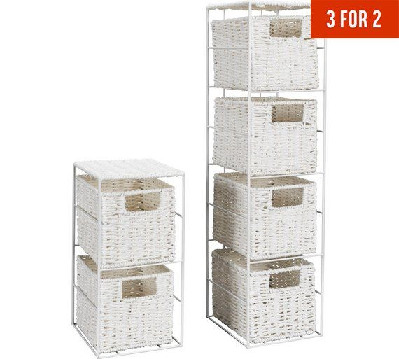 Buy Home 2 And 3 Drawer Storage Towers White At Argos Co Uk Visit Argos Co Uk To Shop Onlin Diy Shelves Bathroom Bathroom Storage Tower Bathroom Shelf Decor