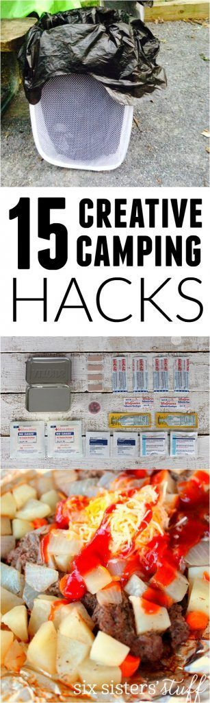 15 creative camping hacks for your best summer yet! SixSistersStuff.com