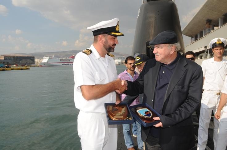 """Η Διοίκηση του ΟΛΠ Α.Ε. επισκέφτηκε και καλωσόρισε το υποβρύχιο """"ΠΑΠΑΝΙΚΟΛΗΣ"""""""
