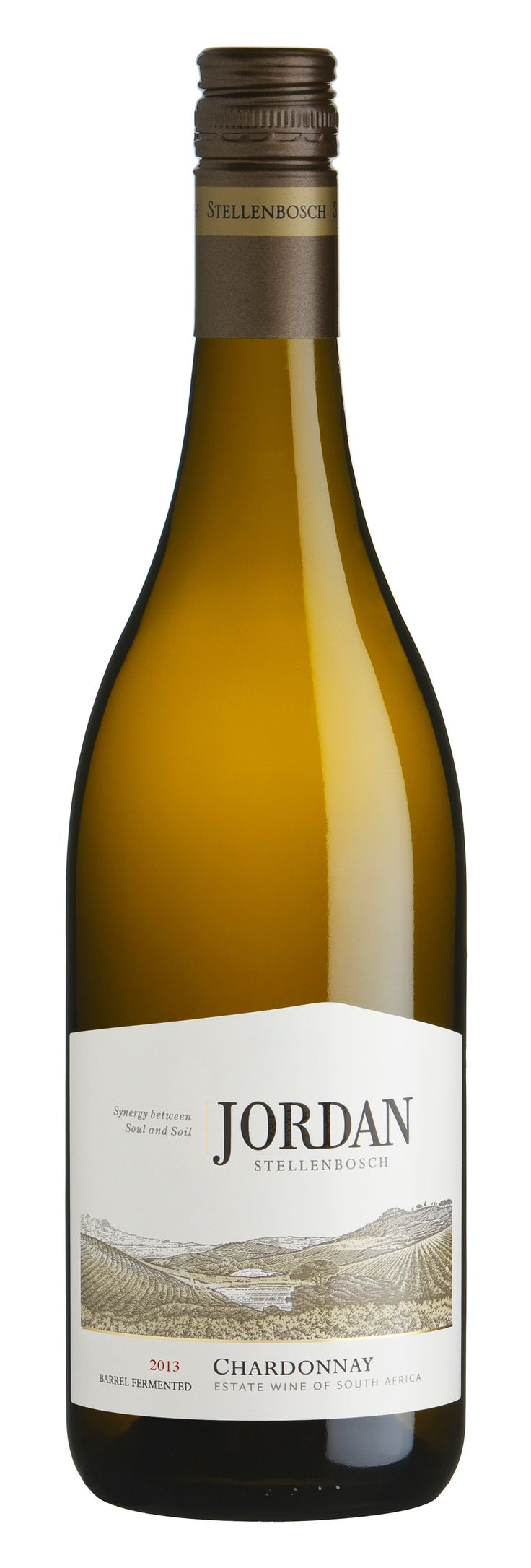 100% Chardonnay - A powerful expression of Chardonnay, brimming with fruit flavour and elegance.  A  buttery toastiness from the oak rounds off the complex hazelnut and citrus flavours.