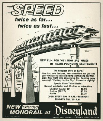 All the amazing modern rides at Disneyland, and I swear my son's favorite was the Monorail. :-)