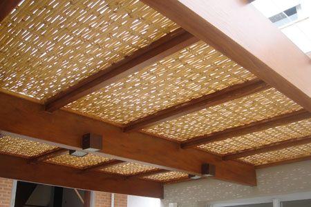 Forro de Bambu para Pergolado, Pergola, Caramanchão, Cobertura, Revestimento, Teto, Forração, etc. Vários modelos, tamanho, preço m2.