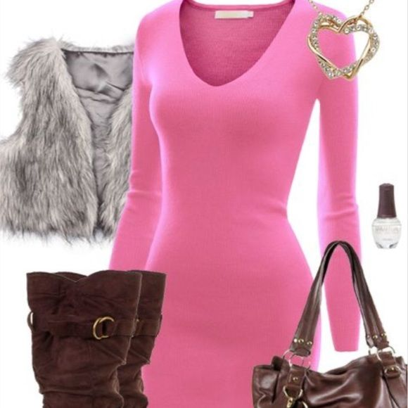 1000  ideas about Pink Sweater Dress on Pinterest  Oversized ...