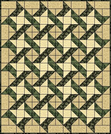 Ribbon Quilt Block...try it in Red/White/Blue prints for Wounded Warriors.