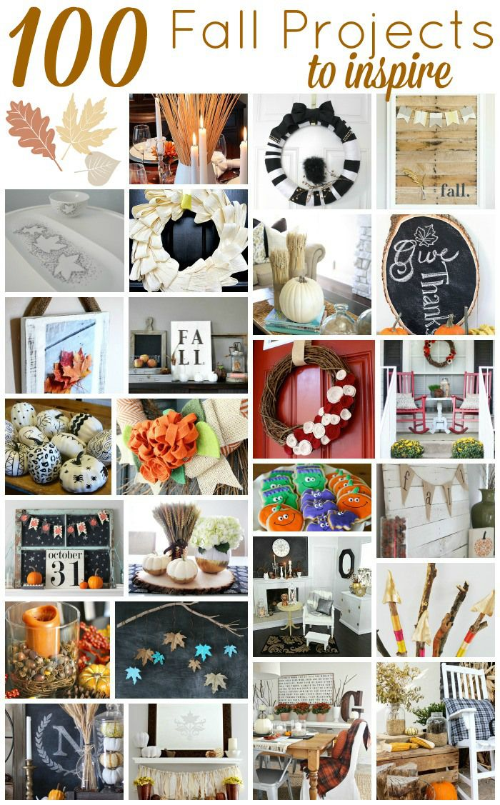Check out these 100 Fall Project Ideas that are sure to inspire! | Upcycledtreasures.com #fall #DIY
