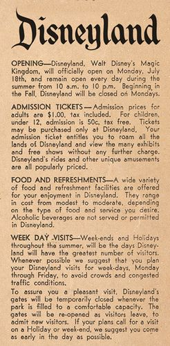 """Although it's widely known that Disneyland's """"official"""" opening day was July 17, 1955...this newpaper clipping from 1955 proclaims the big day as July 18."""