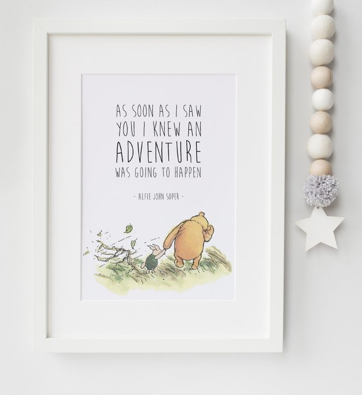 Personalised New Baby/Child Boy/Girl Winnie The Pooh Quote Nursery Birth Name Print Keepsake Picture Christening Gift by LexisLittlePrints on Etsy