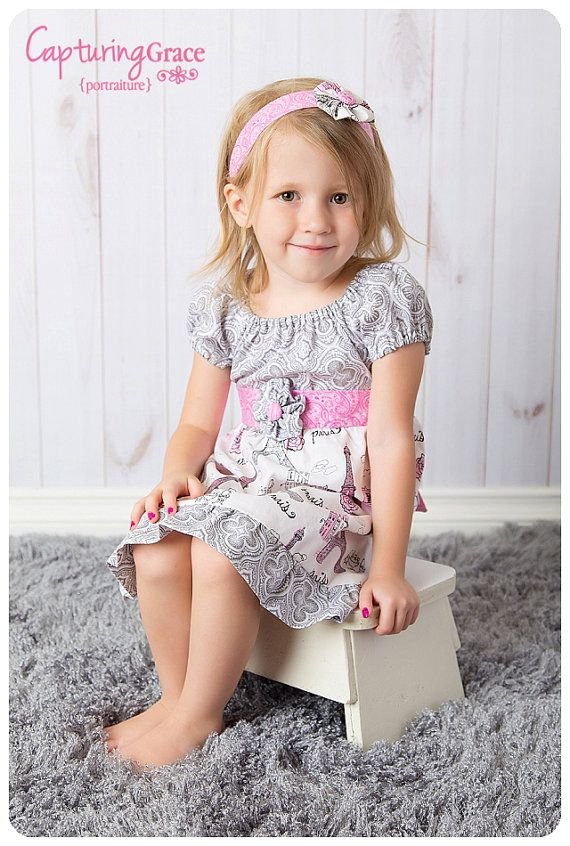 Ooh LaLa La Paris France Dress in pink grey by WhimsyGraceDesigns, $35.00
