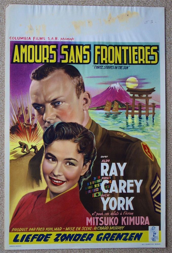 THREE STRIPES IN THE SUN ALDO RAY MITSUKO KIMURA ORIGINAL BELGIAN MOVIE POSTER | Entertainment Memorabilia, Movie Memorabilia, Posters | eBay!