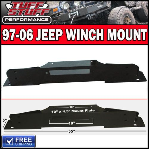 Tuff-Stuff-97-06-Jeep-TJ-Winch-Mount-Hardware-for-All-Bumpers-3-16-Thick