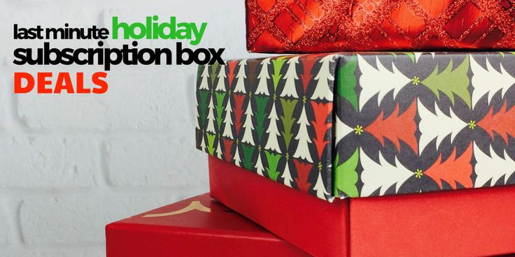 Check out some last minute holiday subscription box gift ideas - and score some hot deals before they disappear!