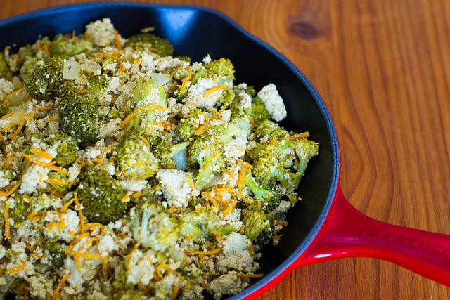 Tofu con brócoli y zanahorias | Veganizando